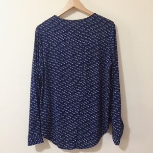 Maeve Tops - Maeve Anthropologie high low button down blouse